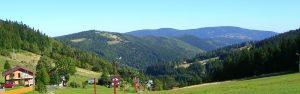 Widok z Przełęczy Salmopolskiej