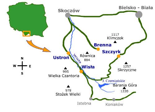 Mapka regionu