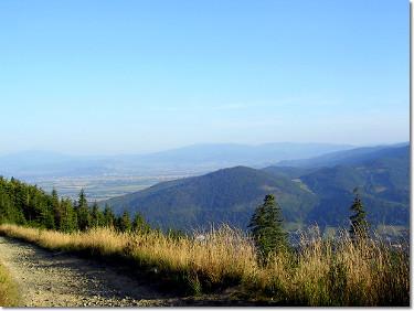 Widok ze szlaku na Klimczok